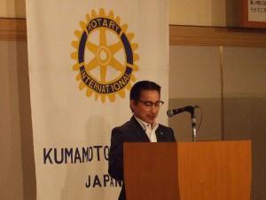倉松委員長による「ロータリーの友」記事の紹介