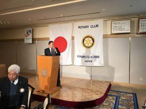 伊牟田会長エレクトより次年度の委員会構成の説明。