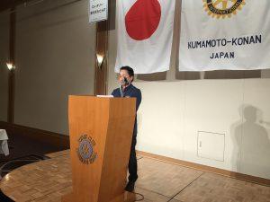 倉松青少年奉仕委員長より報告
