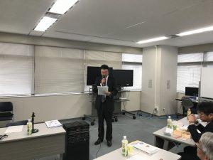 増永幹事が不在のため井戸川会員による幹事報告
