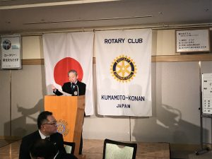 出席報告する森崎委員長