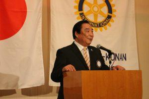 田中会長エレクトによる締めの挨拶