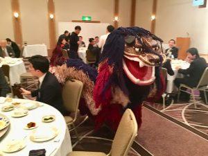 アトラクションは恒例「琉球國祭り太鼓」です