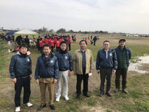 熊本江南ロータリークラブの応援メンバー達。