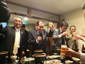 乾杯の音頭は島田会員