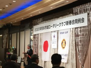 開会・点鐘は熊本西RC礒野会長