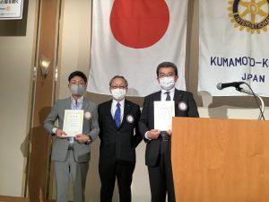 6月出席表彰 寺岡会員、松尾会員