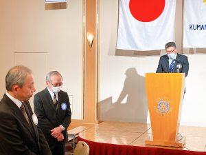 スマイル報告吉村会員とスマイルをいただいた林会長、森崎幹事