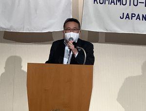本日の卓話 伊牟田ロータリー財団委員長