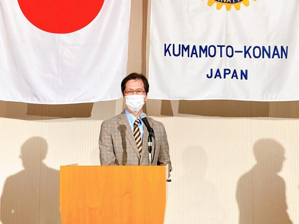 本日の卓話者 優里の会 八谷斉副幹事さま