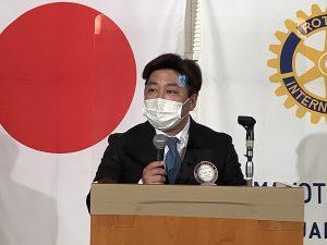 本日の卓話 佐土原会員増強委員長