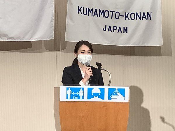 本日の卓話 古川智子市議会議員