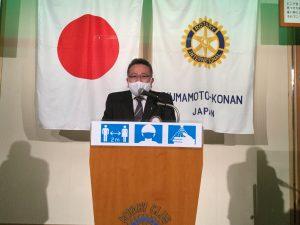 次回卓話者発表 プログラム委員 伊牟田会員