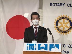 卓話 NTT西日本 朝倉支店長